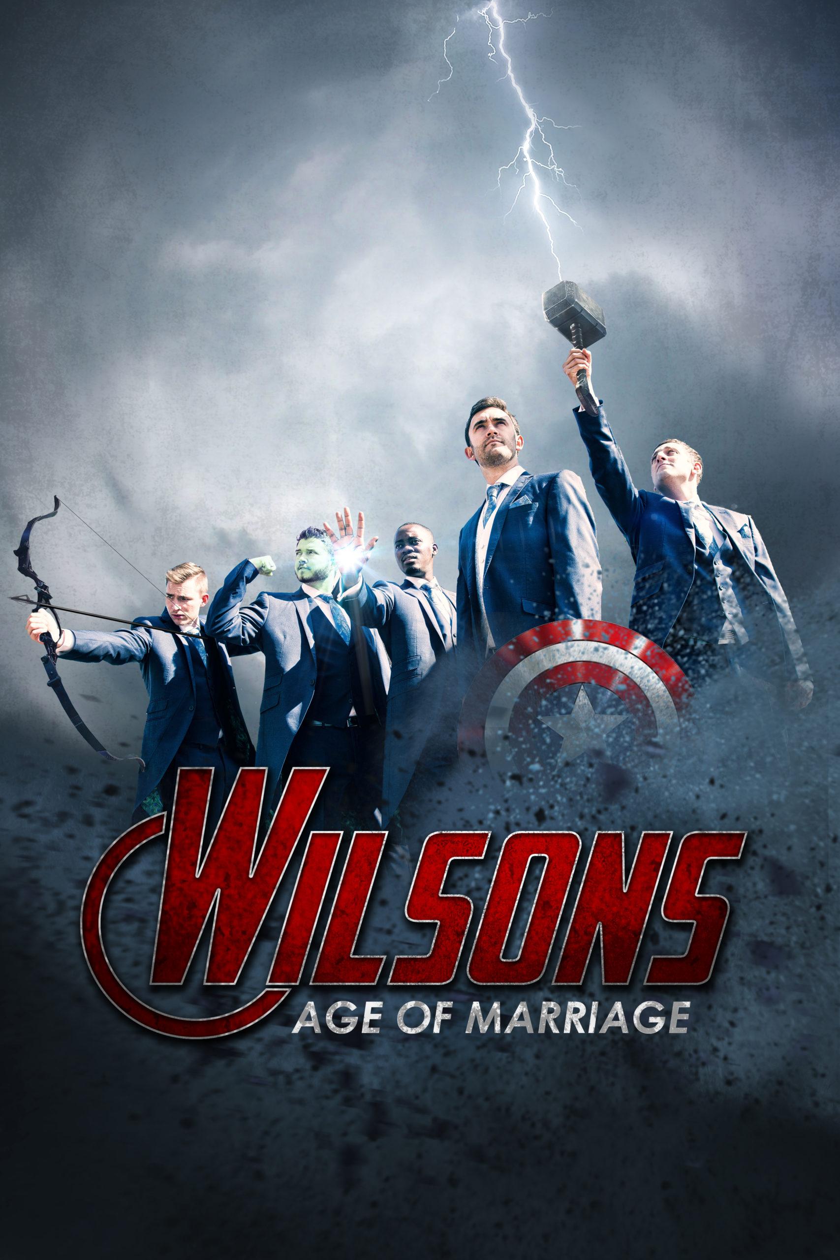 Marvel Avengers wedding photo