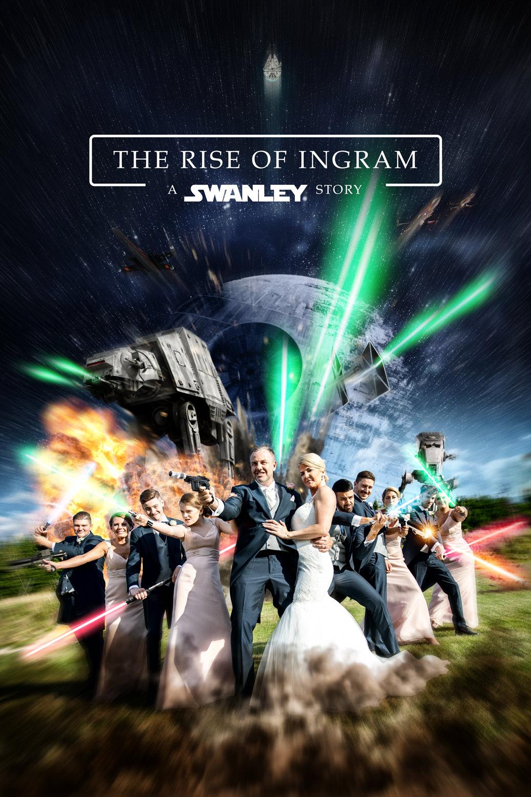 Star Wars wedding photo