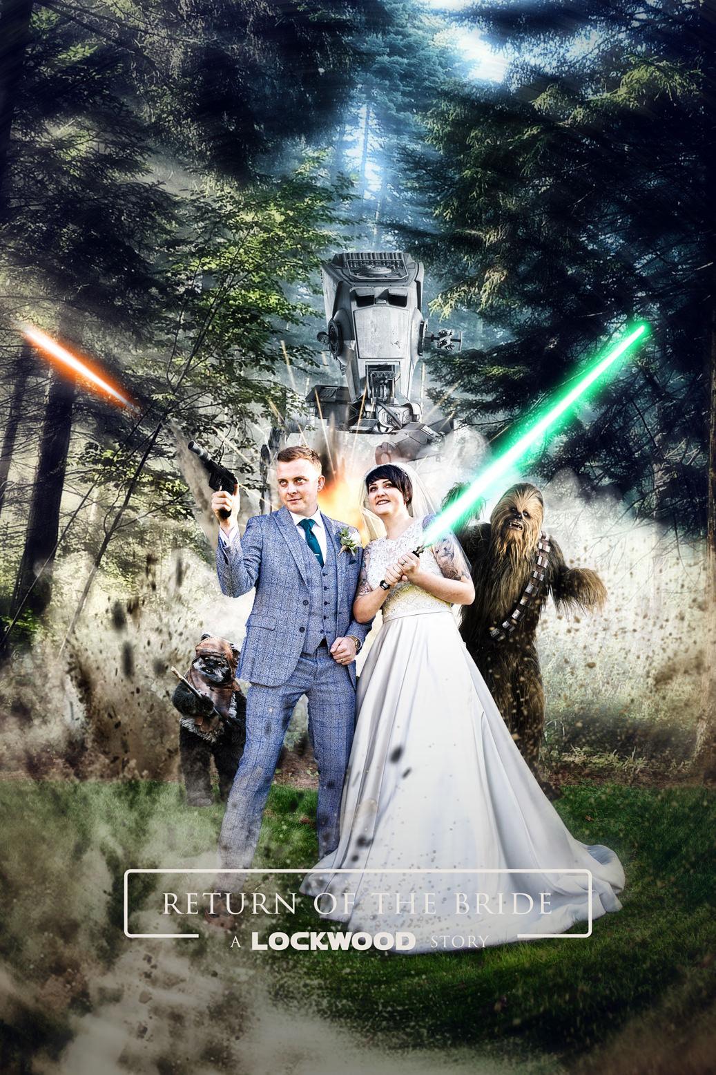Star Wars Return of the Jedi wedding photo