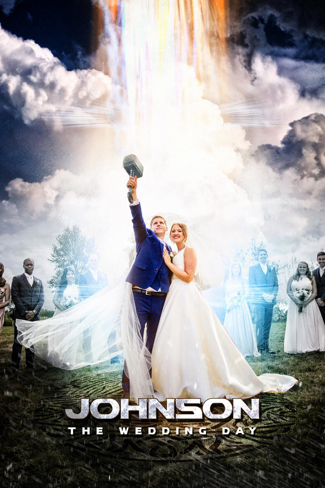 Thor wedding photo